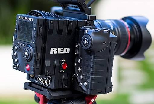 RED Epic 5K lens and Tripod
