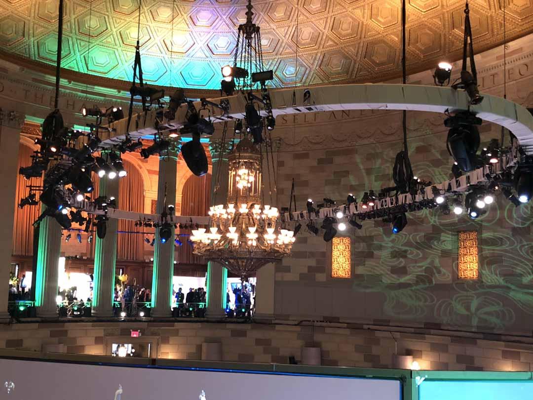 Boston PAX Convention Center interior - chandelier
