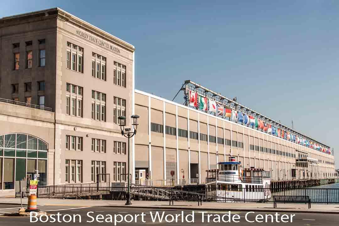 Boston Seaport World Trade Center - flags
