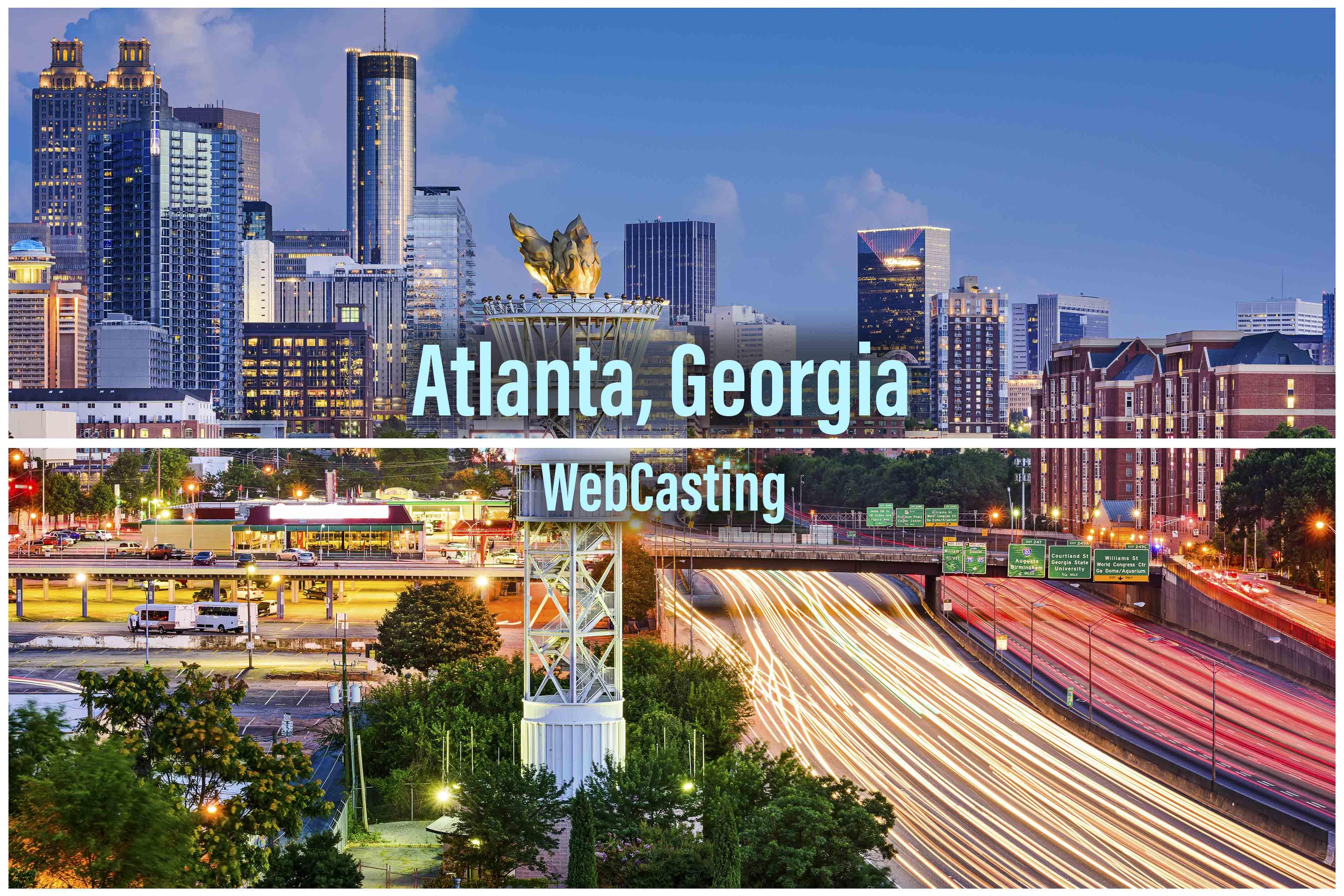 WebCasting Atlanta skyline