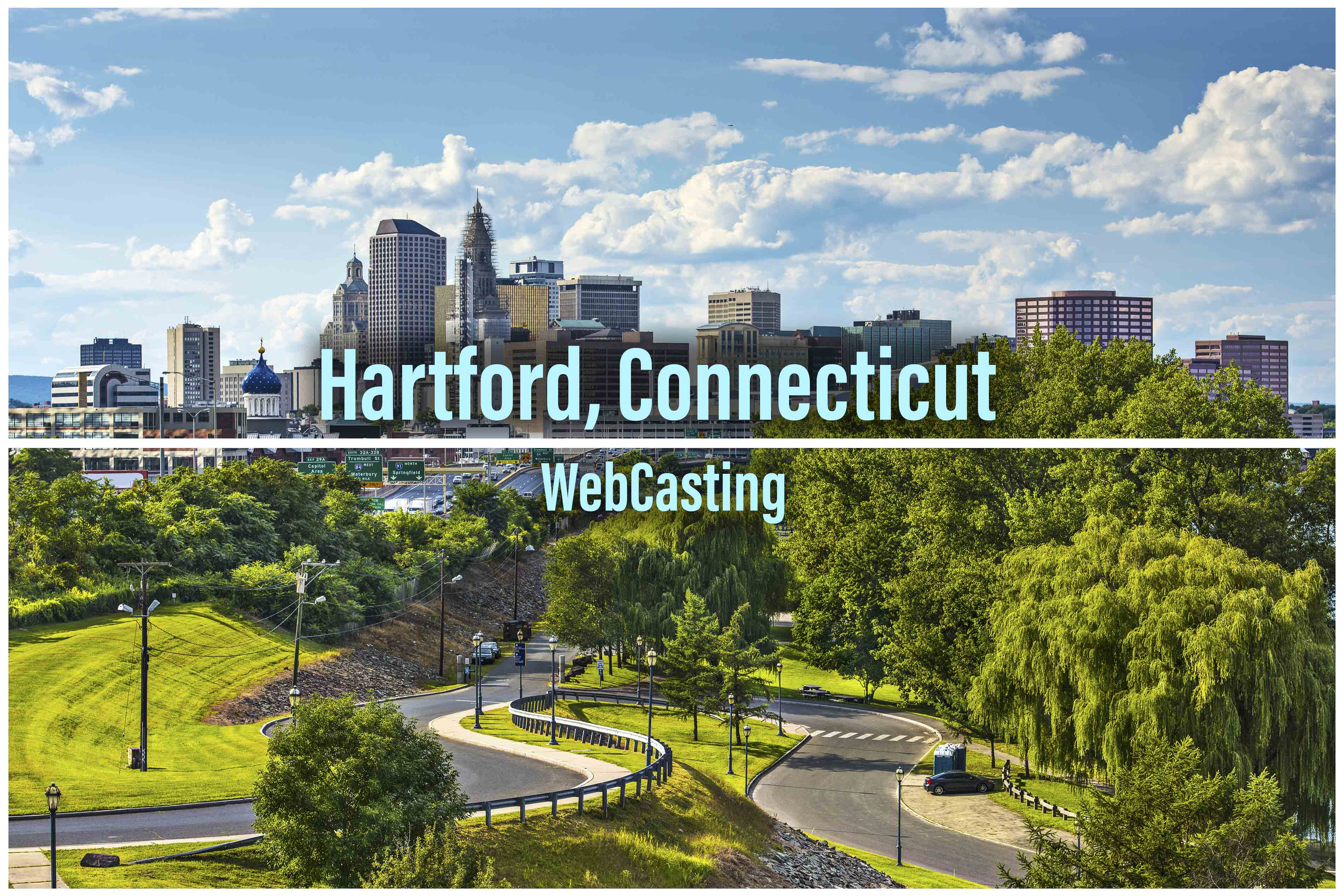 WebCasting Hartford skyline