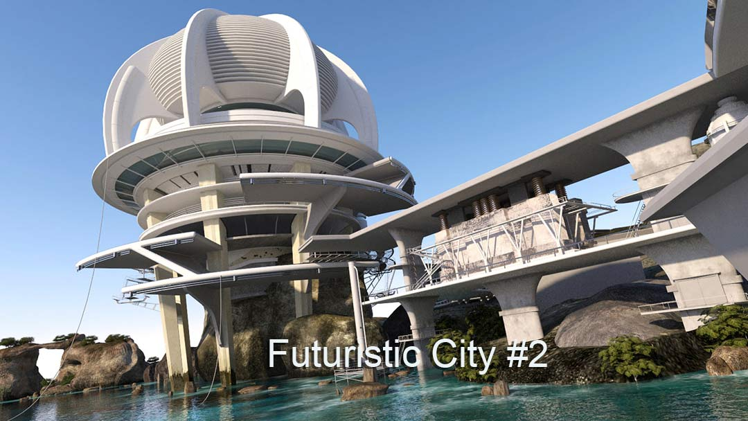 Futuristic City 4K Virtual Set