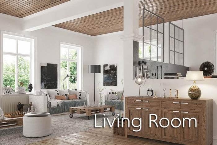 Living Room - White - beautiful decor