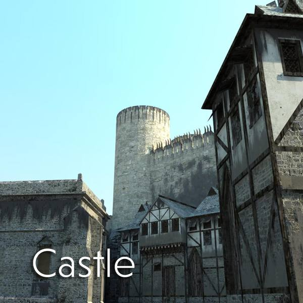 3D Exterior Virtual Set Castle