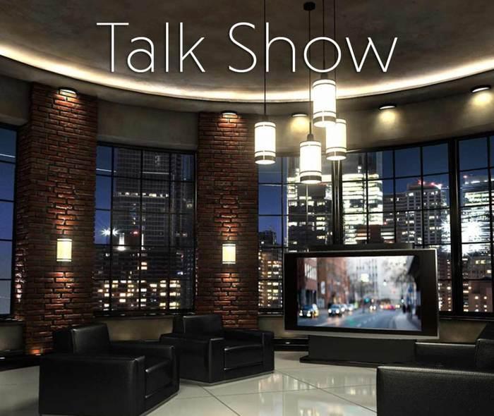 3D talk show 2 Virtual Set