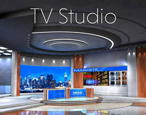 3d Tv Studio Virtual Set
