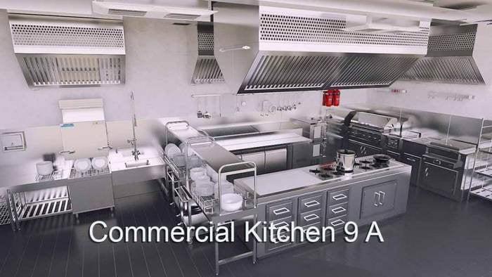 3d 4K Virtual Sets: Commercial Kitchen