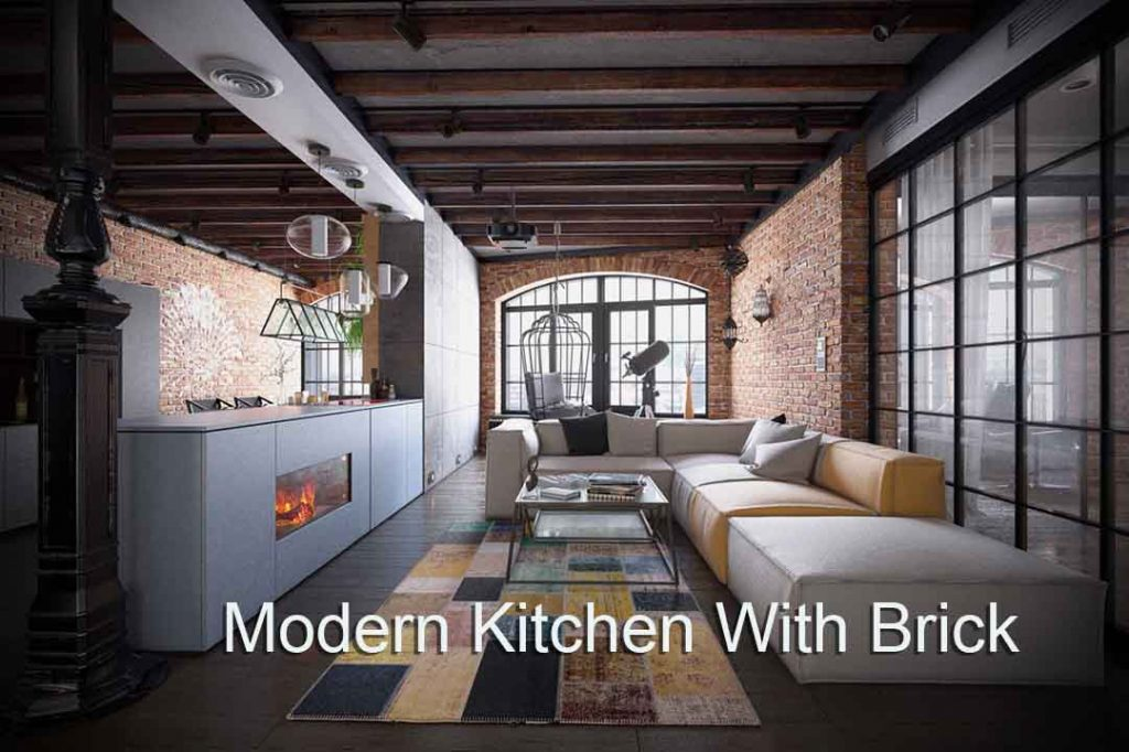 Virtual Set: High Tech With Brick Kitchen copy