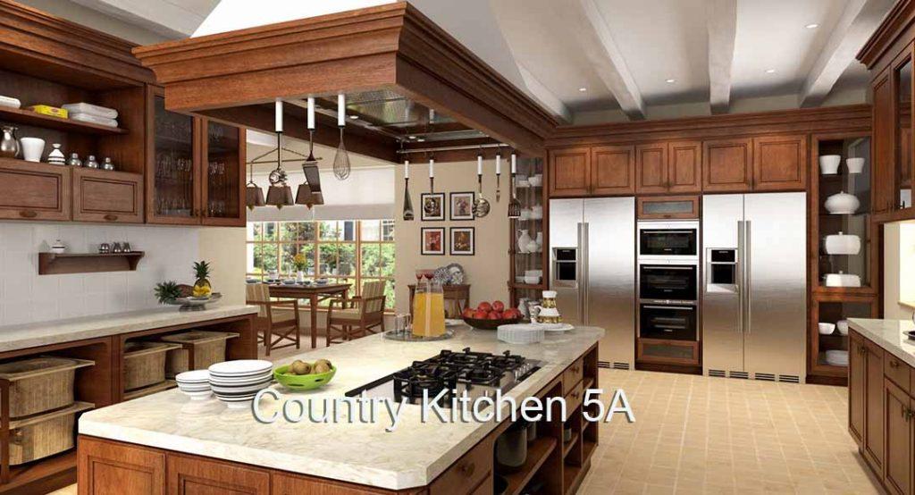 3D 4K Virtual Sets: Country Kitchen 10A