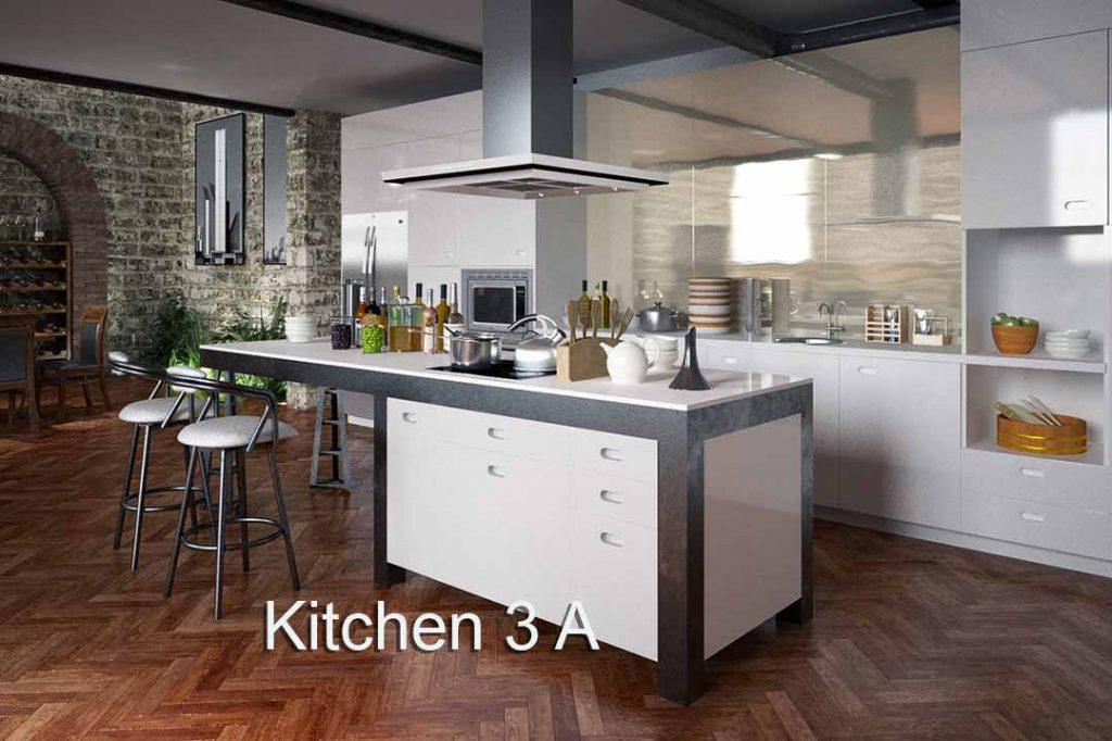 3D 4K Virtual Sets White Kitchen