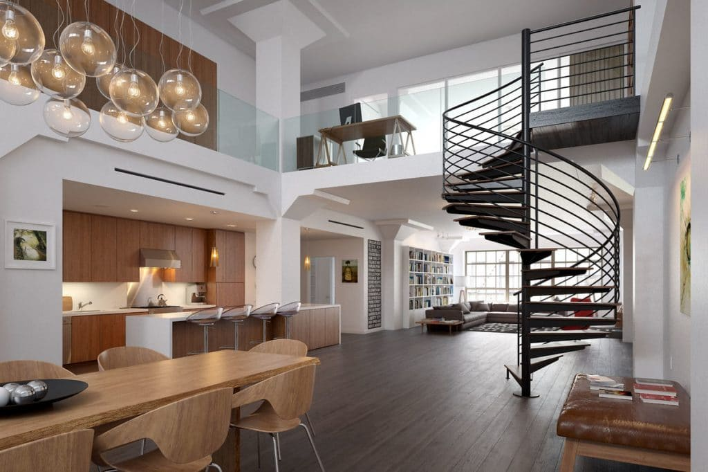 Virtual Set: Kitchen Spiral Staircase