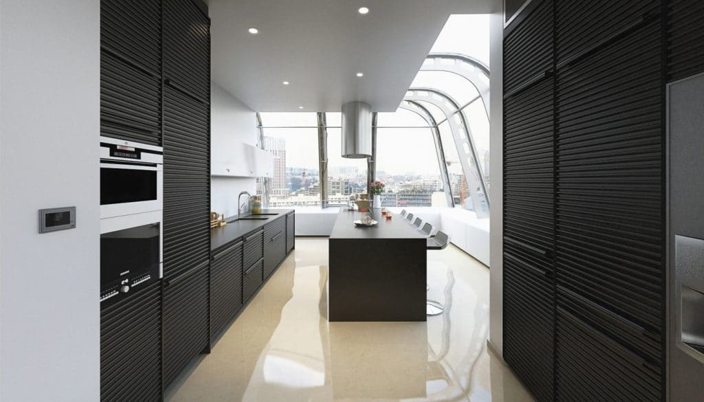 Virtual Set: Kitchen With Amazing View