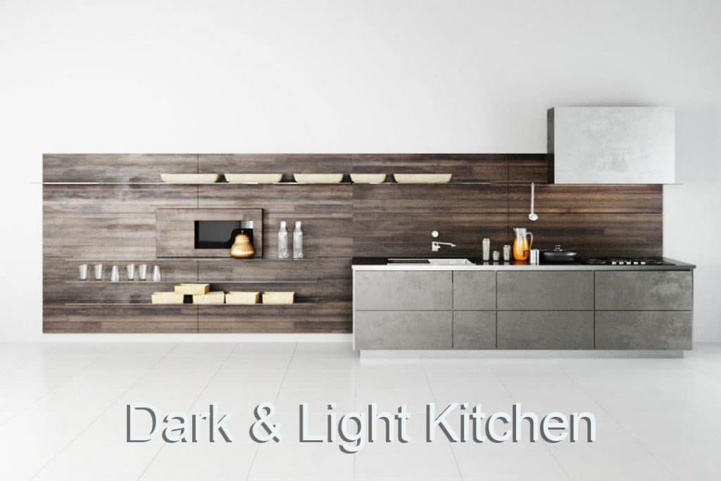 Virtual Set: Minimiaistic Kitchen dark & Light