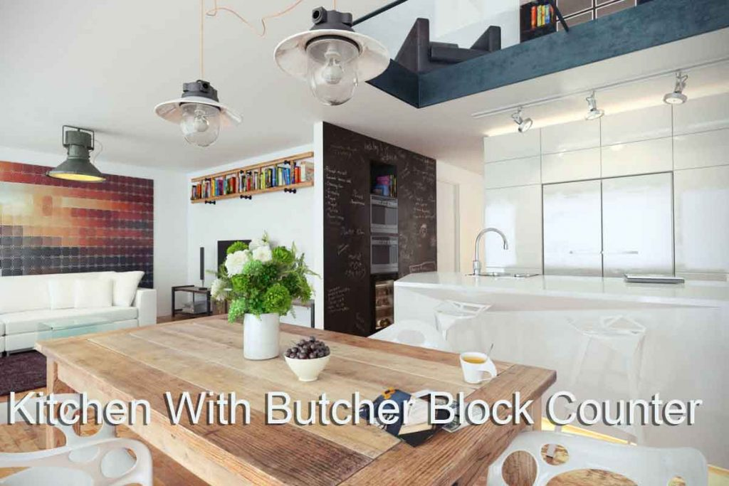 Virtual Set: Modern Kitchen Butcher Block Counter