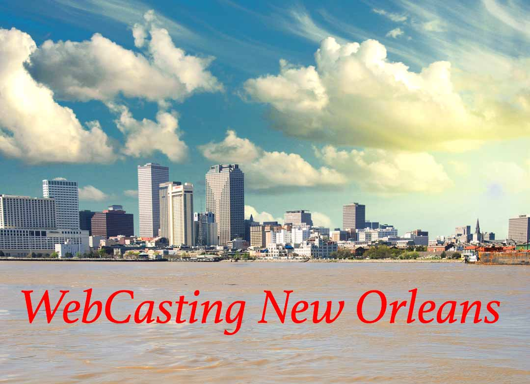 WebCasting New Orleans skyline