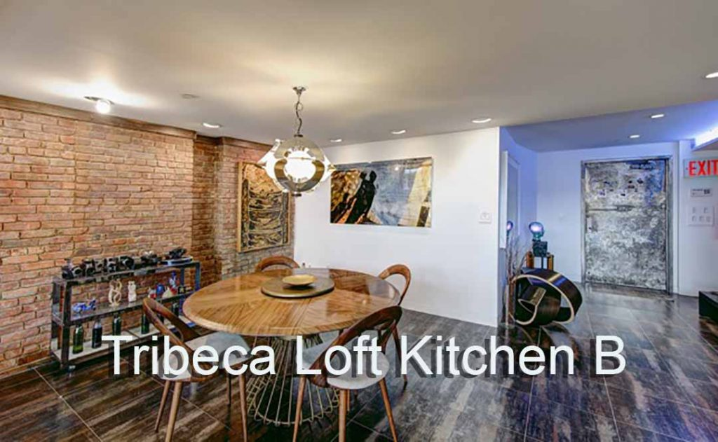 Tribeca Loft Kitchen Video Stage Dining Area