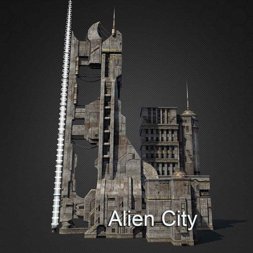 3d Virtual Set: Alien Building