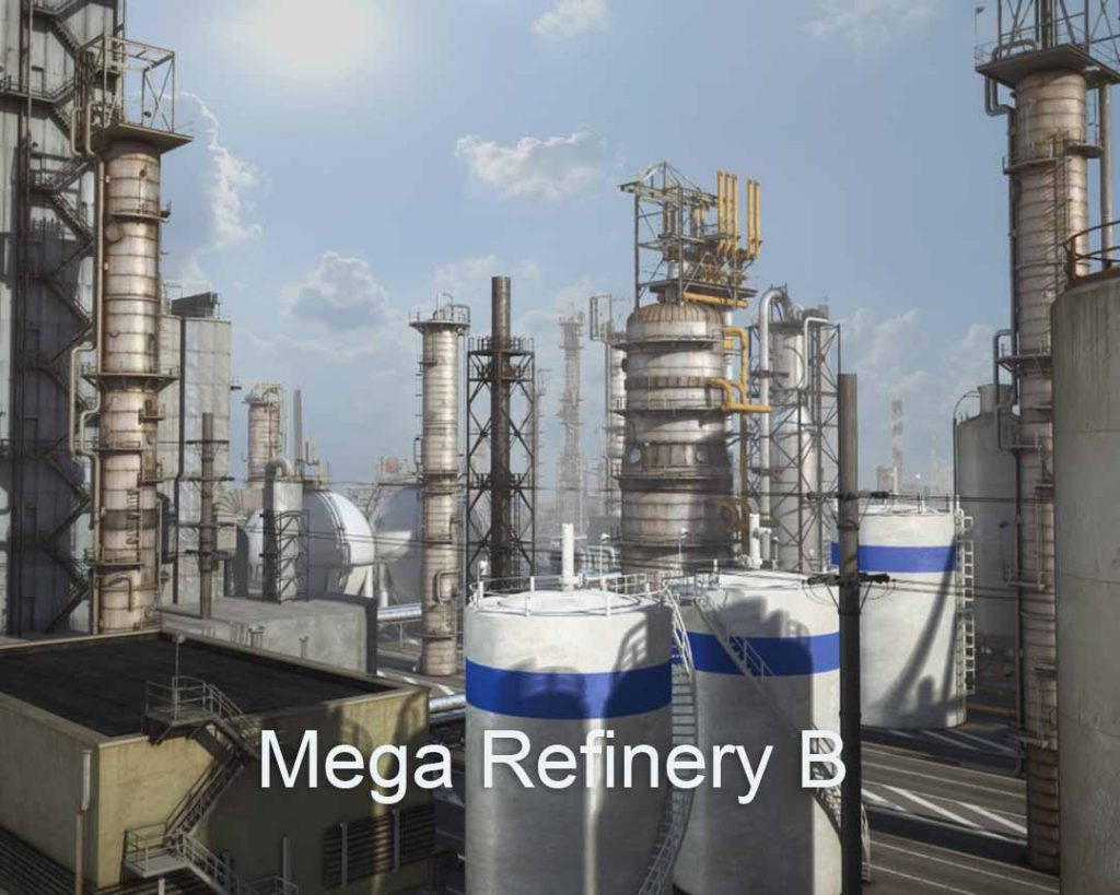 3D/4K Virtual Sets: Huge Refinery day