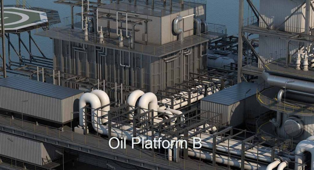 3D 4K Virtual Sets: Oil Platform B