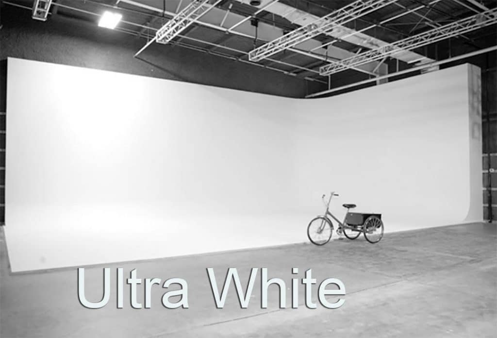 Ultra White Cyc Stage with bicycle in front