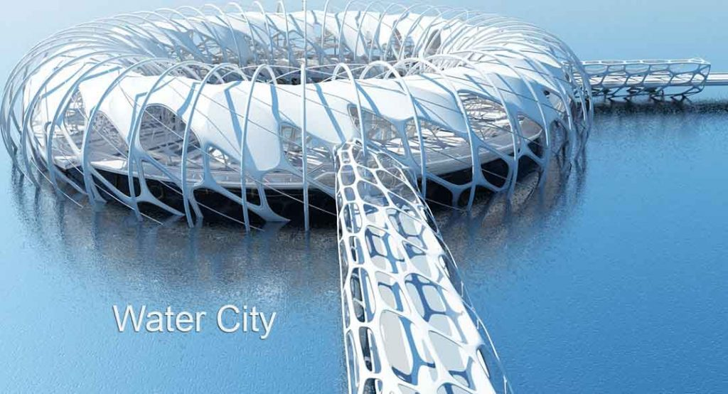 3D Virtual Sets: Water City Future