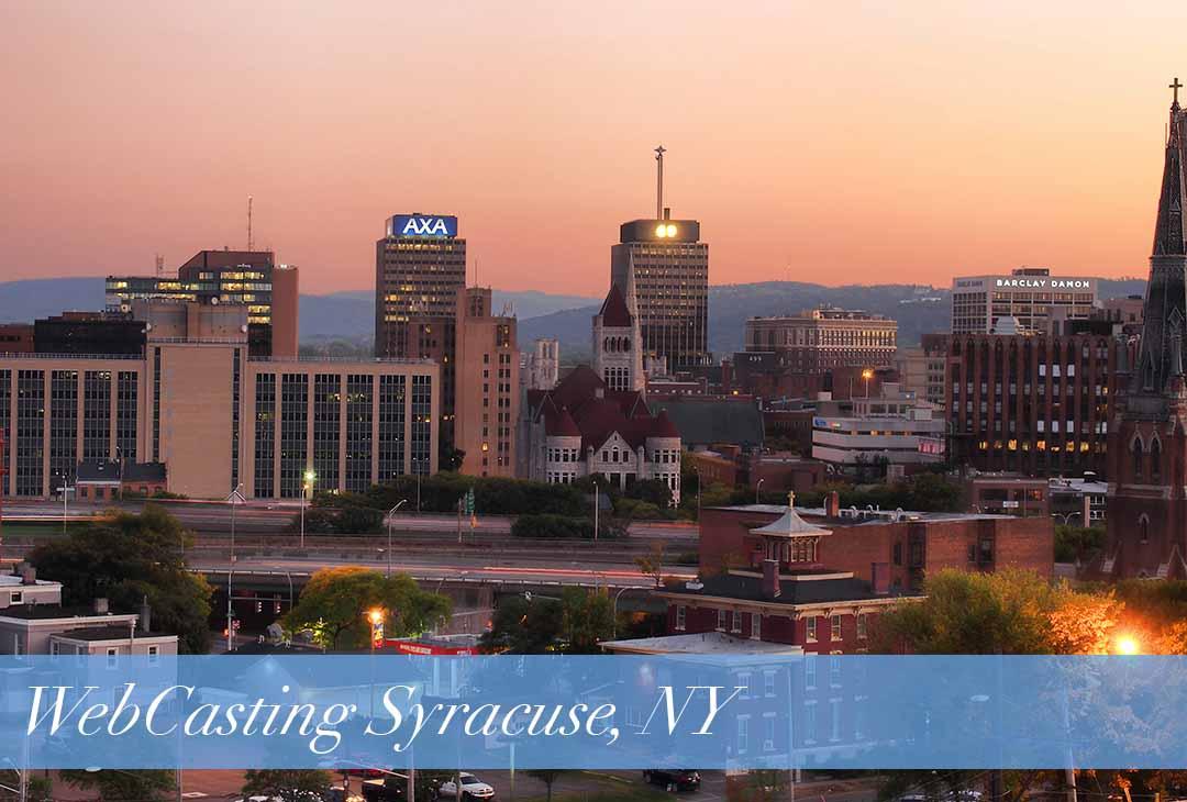 WebCasting Syracuse skyline