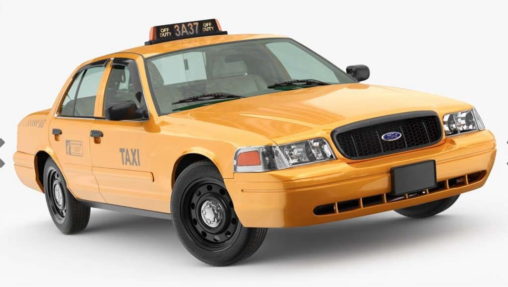 Virtual Sets: 3D/4K Yellow Cab Front View