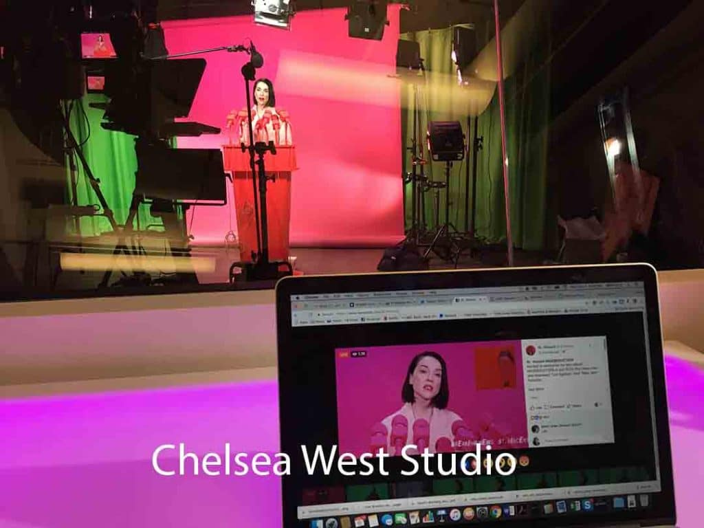 Chelsea West NYC Studio: Sattelite Media Tours