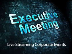 Executive Meeting banner for WebCasting at American Movie Company