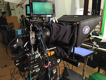 4K Camera, Tripod and Gold Plate Teleprompter - Video Production equipment