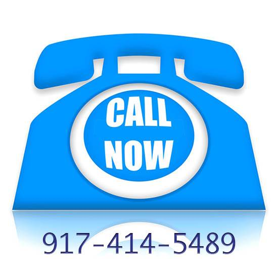 Blue Phone Graphic with Call Now and phone number