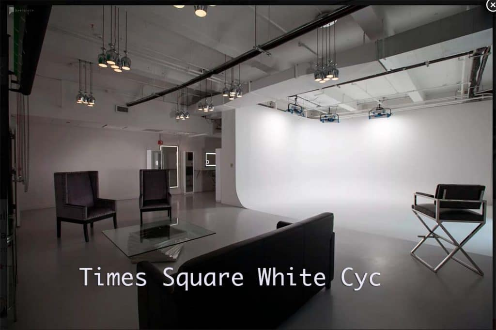 Times Square White Cyc Stage