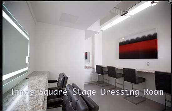 Time Square Stage Dressing Room