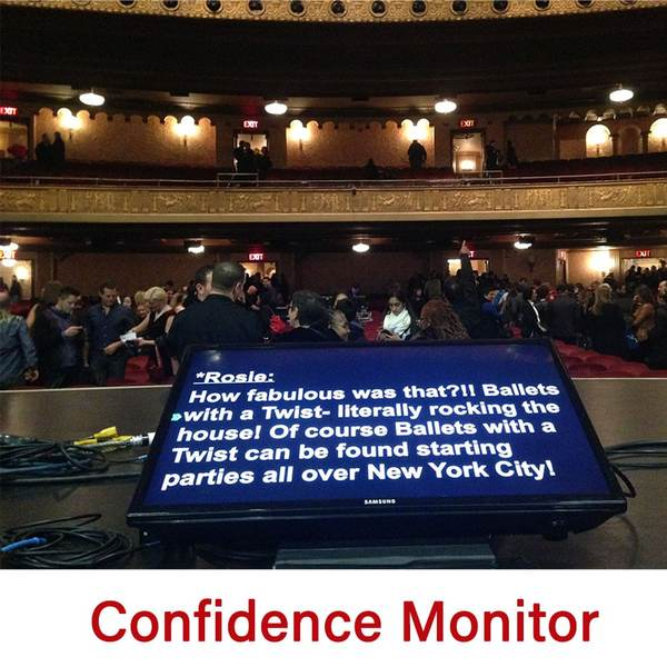 Confidence Monitor - Teleprompter Rental Chicago