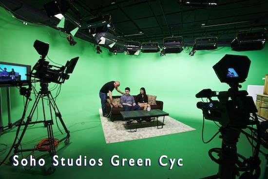 Soho Studios Green Cyc : AMC green screen sound stage Studio Rental