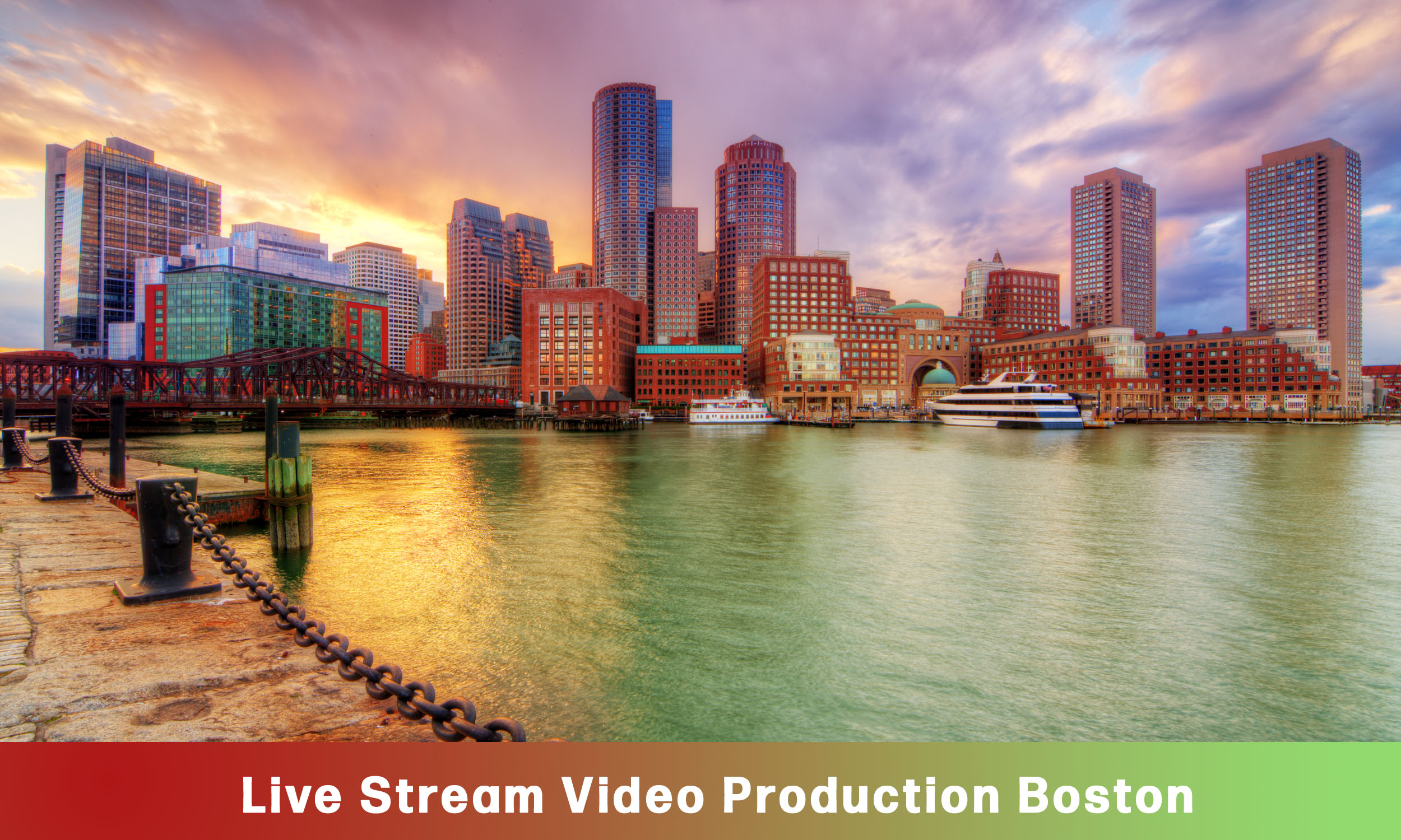 WebCasting Boston skyline