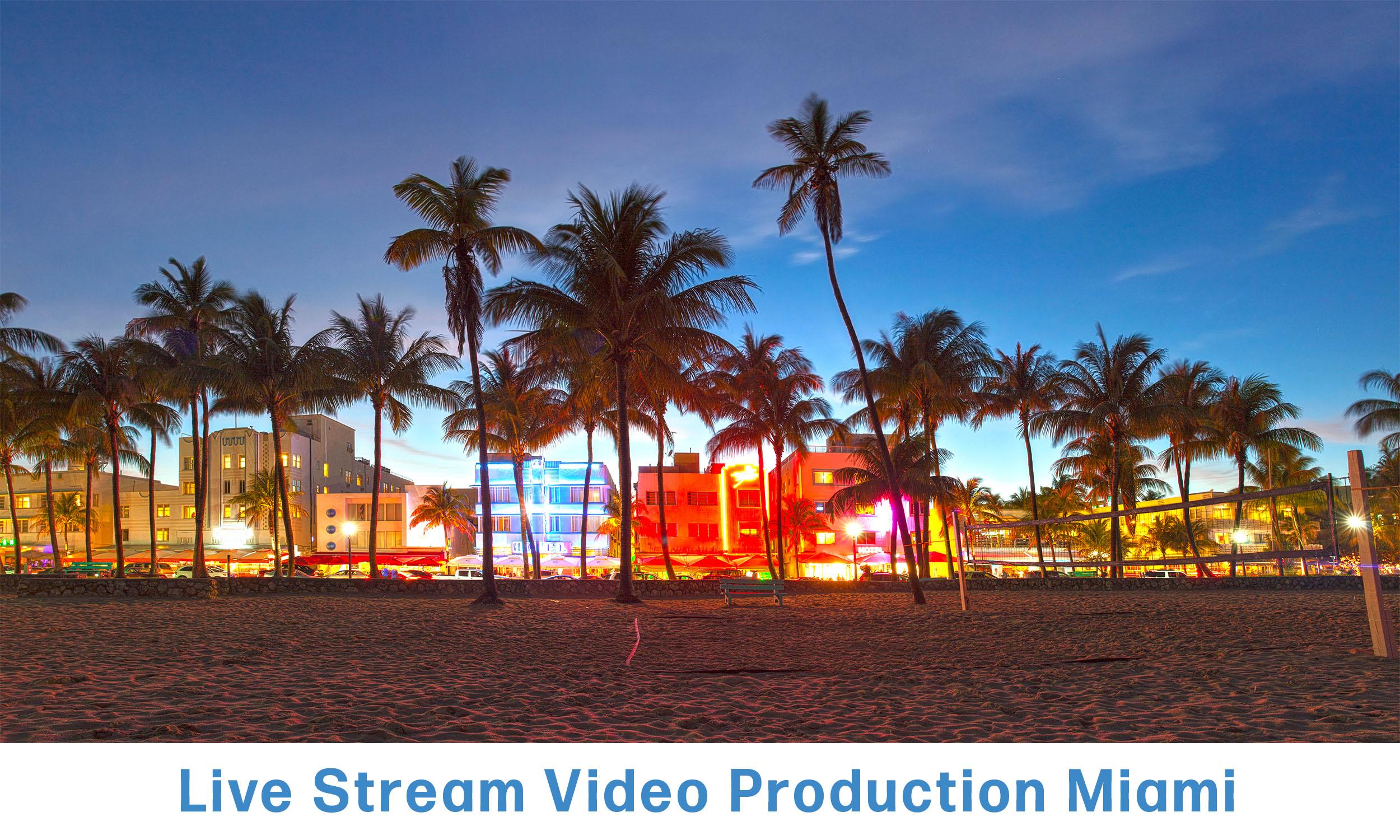WebCasting Miami skyline