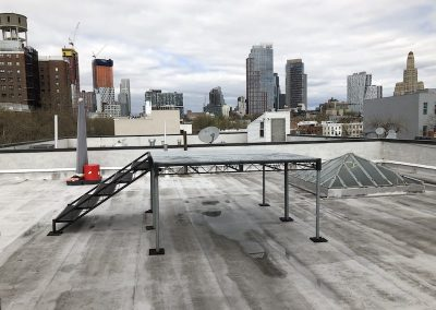 Rooftop with SteelDeck Shoot Platform and View of Downtown Brooklyn.