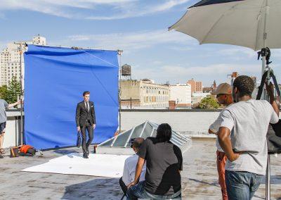 Rooftop photoshoot Downtown Brooklyn.