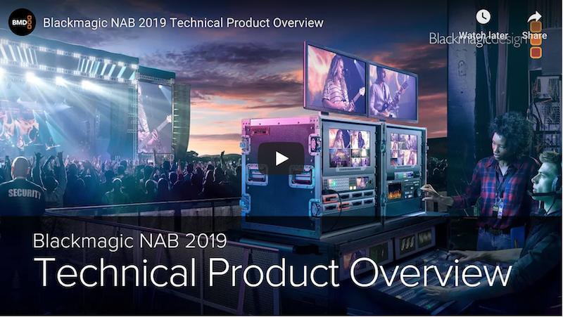 NAB 2019: BlackMagic Showcases New 8K Designs!
