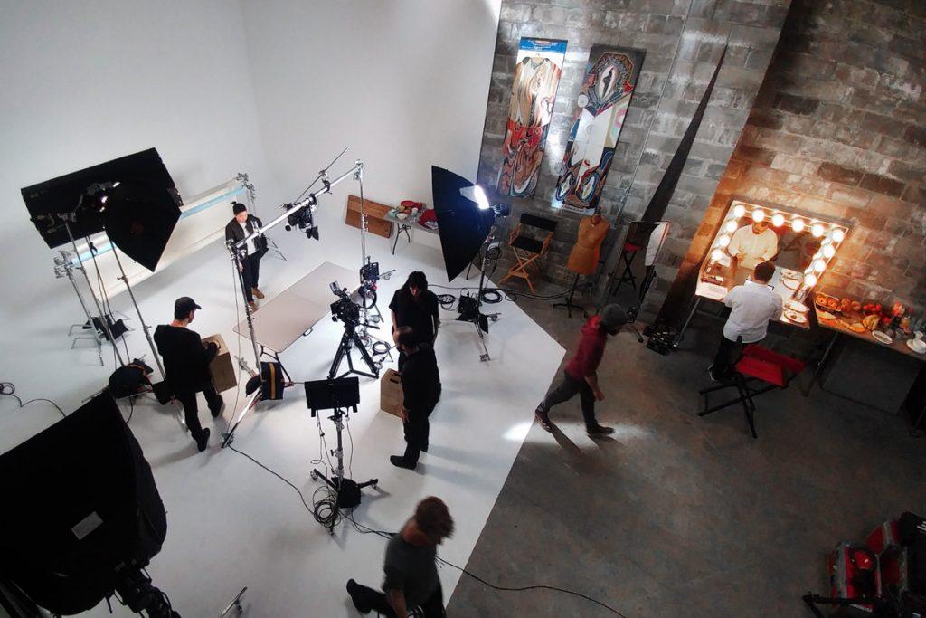 Studio in action, Downtown Brooklyn Studios, Film shoot, Studio rental