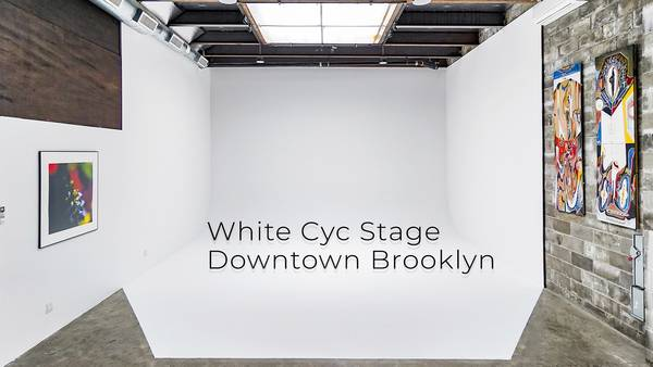 Downtown Brooklyn White Cyc Stage: White Cyc green screen sound Stage Rental AMC