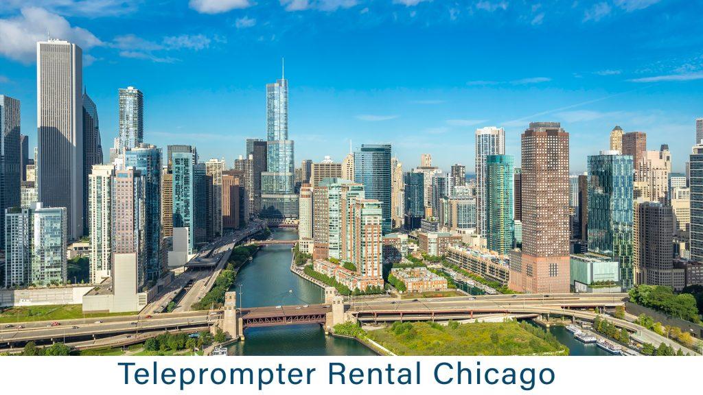 Teleprompter Rental Chicago, - skyline - blue sky