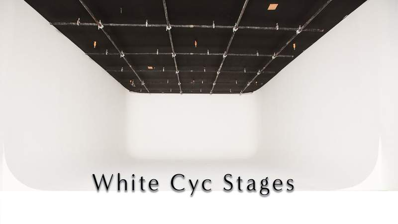 American Movie Company White Cyc Studio Rentals, White Cyc Stages: green Screen sound Stage