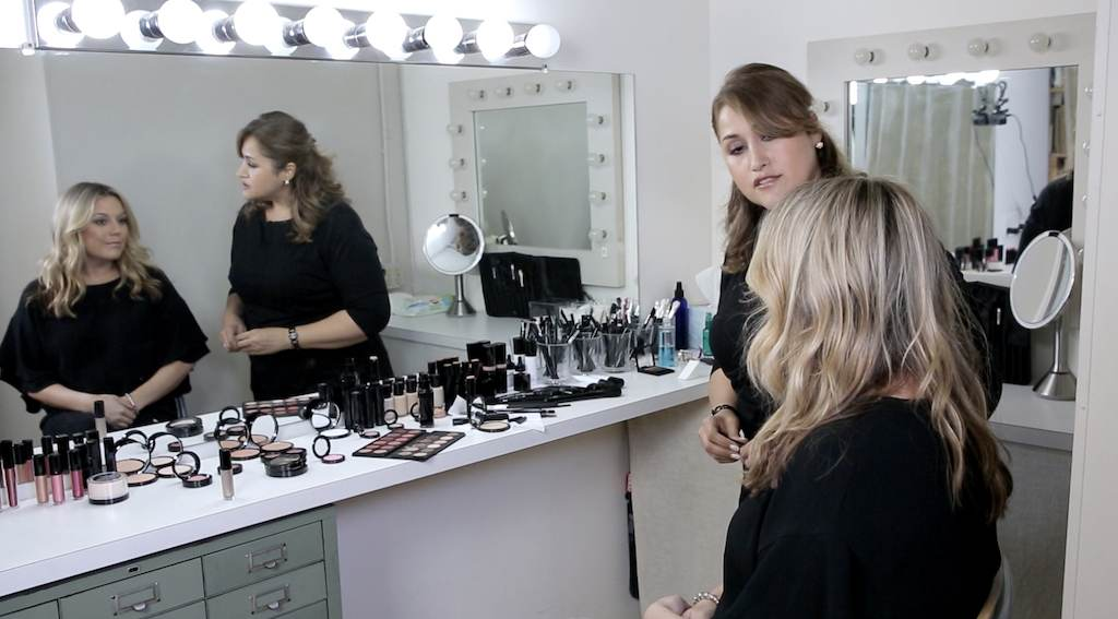 Makeup Room - with two people talking
