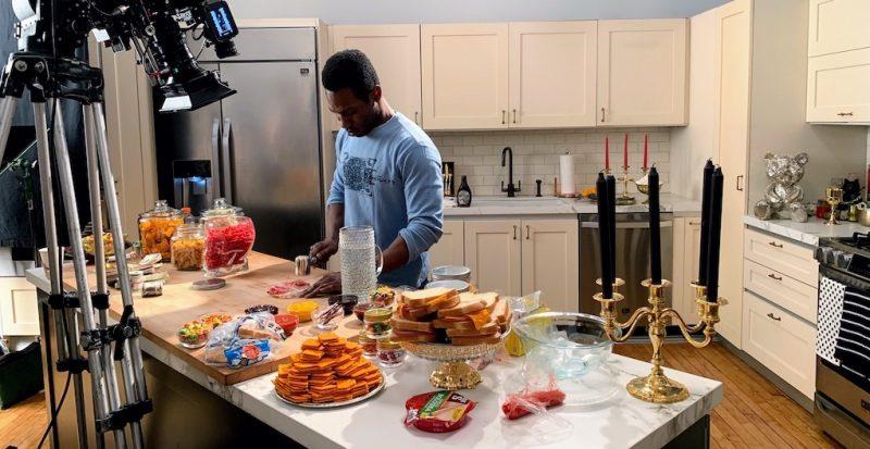 Kitchen - boy preparing a food