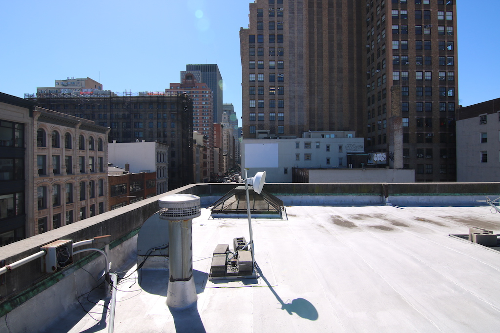 View from rooftop, NYC