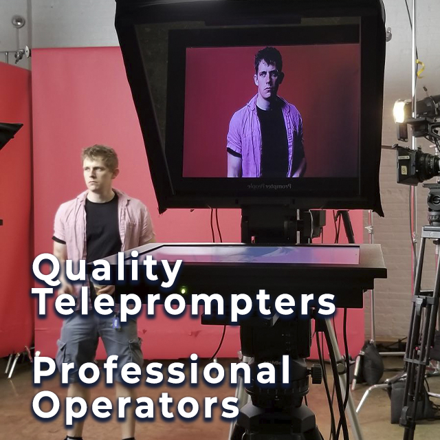 Quality Teleprompter Professional Operators - 2 men in background