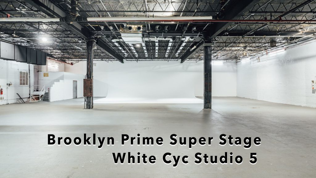 Huge production space, Brooklyn Prime - columns white walls