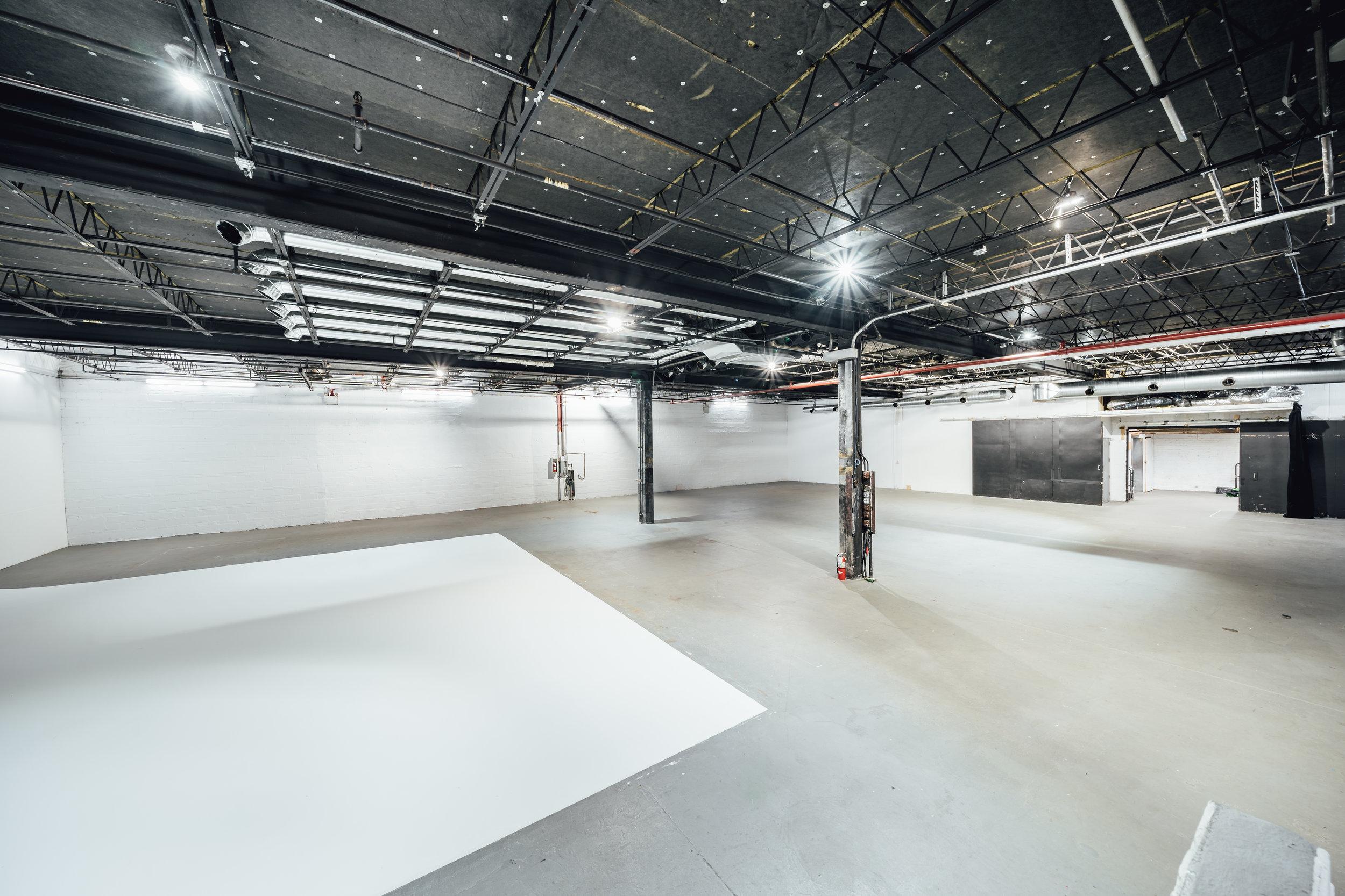Studio 5: White Cyc Stage - One Wall Cyc